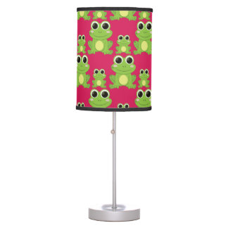 Cute frogs pattern table lamp