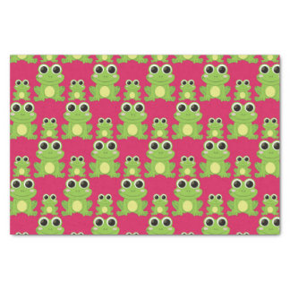 Cute frogs pattern tissue paper