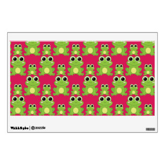 Cute frogs pattern wall decal