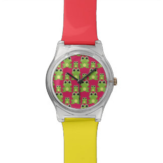 Cute frogs pattern wristwatches