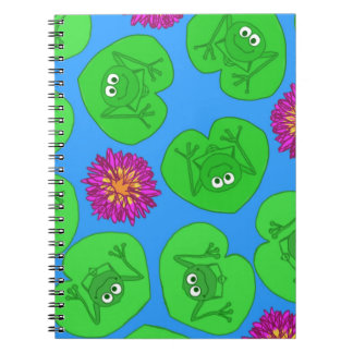 Cute frogs spiral notebook