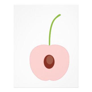 cute fruit design letterhead