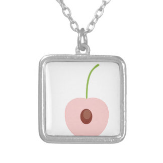 cute fruit design silver plated necklace