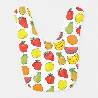 Cute Fruit Pattern Bib