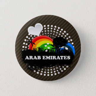 Cute Fruity Arab Emirates 2 Inch Round Button