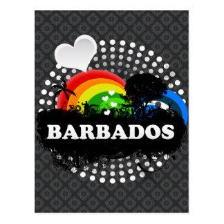 Cute Fruity Barbados Postcard