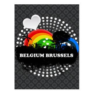 Cute Fruity Belgium Brussels Postcard