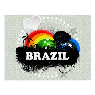 Cute Fruity Brazil Postcard