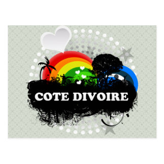 Cute Fruity Cote Divoire Postcard