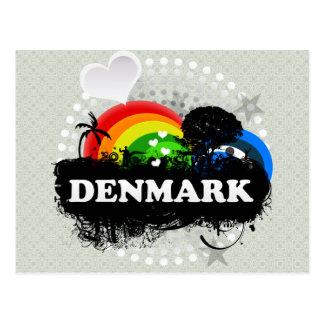 Cute Fruity Denmark Postcard