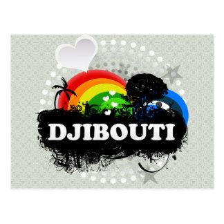 Cute Fruity Djibouti Postcard
