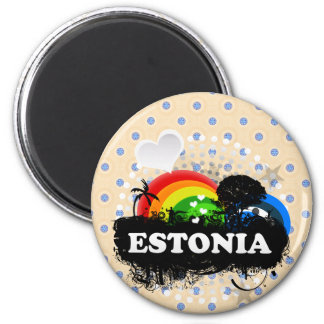 Cute Fruity Estonia Magnet