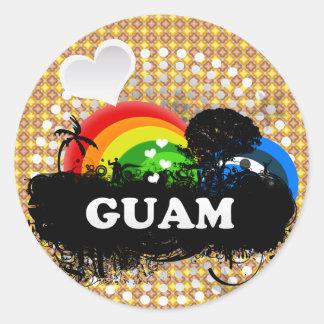 Cute Fruity Guam Round Sticker
