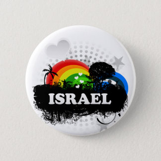 Cute Fruity Israel 2 Inch Round Button