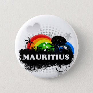 Cute Fruity Mauritius 2 Inch Round Button