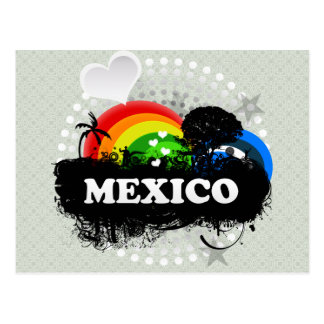 Cute Fruity Mexico Postcard