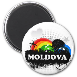 Cute Fruity Moldova Magnet