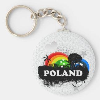 Cute Fruity Poland Keychain
