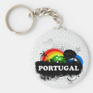 Cute Fruity Portugal Basic Round Button Keychain
