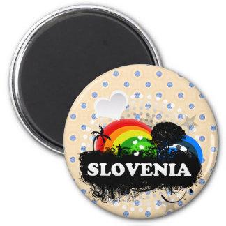 Cute Fruity Slovenia Magnet