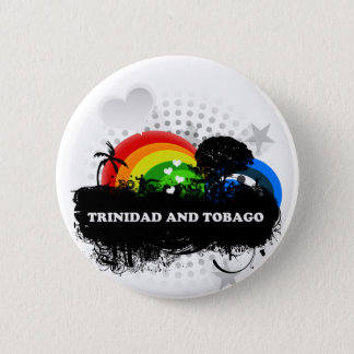 Cute Fruity Trinidad And Tobago 2 Inch Round Button