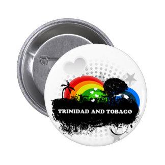 Cute Fruity Trinidad And Tobago Pinback Button