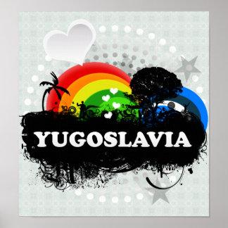 Cute Fruity Yugoslavia Poster