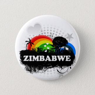 Cute Fruity Zimbabwe 2 Inch Round Button