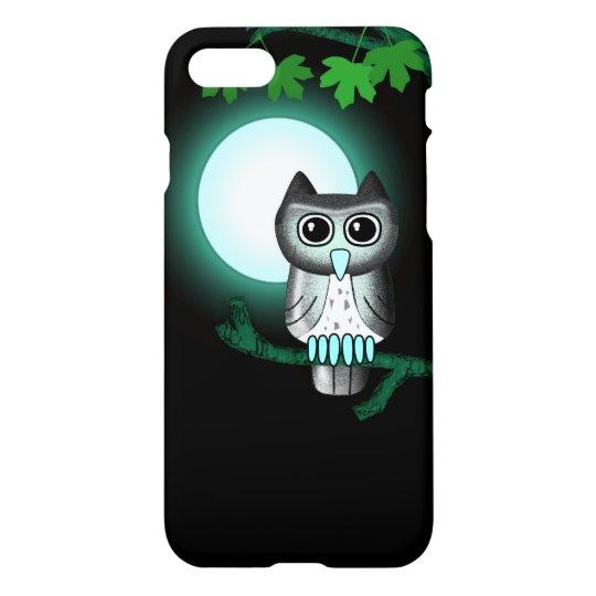 Cute Full Moon Owl iPhone 8/7 Case