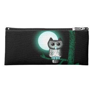 Cute Full Moon Owl Pencil Case