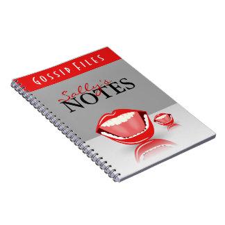 Cute Fun Big Mouth Gossip Files Custom Notebook