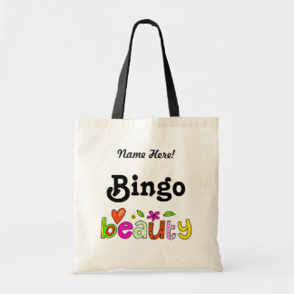 Cute Fun Bingo Personalize Name Prize Player Bag