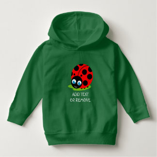 Cute fun cartoon black and red ladybug / ladybird hoodie