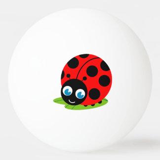 Cute fun cartoon black and red ladybug / ladybird, ping pong ball