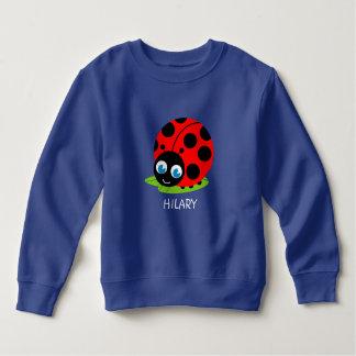 Cute fun cartoon black and red ladybug / ladybird, sweatshirt
