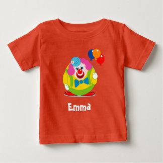 Cute fun cartoon circus clown with a big red nose, baby T-Shirt
