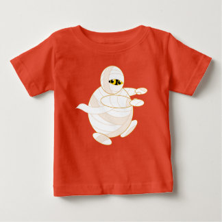 Cute fun cartoon of a Halloween bandaged Mummy, Baby T-Shirt