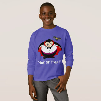 Cute fun cartoon of a Halloween Count Dracula, T-Shirt