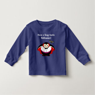 Cute fun cartoon of a Halloween Count Dracula, Toddler T-shirt