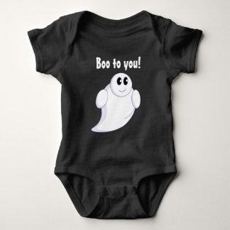 Cute fun cartoon of a Halloween ghost or ghoul, Baby Bodysuit