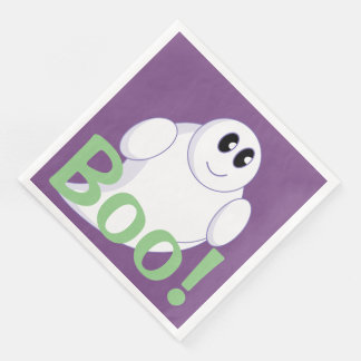 Cute fun cartoon of a Halloween ghost or ghoul, Paper Napkins