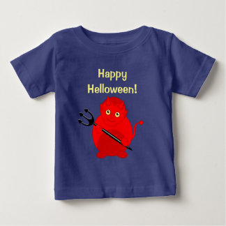Cute fun cartoon of a Halloween red Devil, Baby T-Shirt