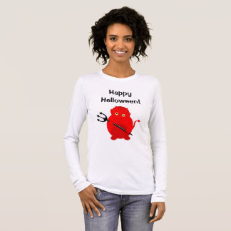 Cute fun cartoon of a Halloween red Devil, Long Sleeve T-Shirt