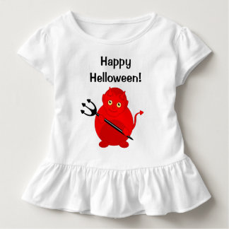 Cute fun cartoon of a Halloween red Devil, Toddler T-shirt