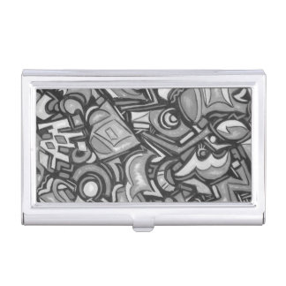 Cute Fun Funky Bold Whimsical Shapes-Abstract Art Business Card Case