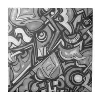 Cute Fun Funky  Bold Whimsical Shapes Ceramic Tile