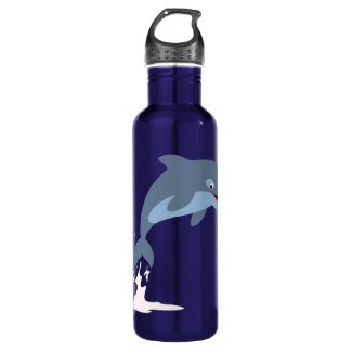Cute Fun-Loving Cartoon Dolphin 710 Ml Water Bottle