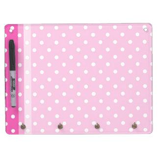 Cute, fun pink polka dots dry erase board. Dry-Erase boards