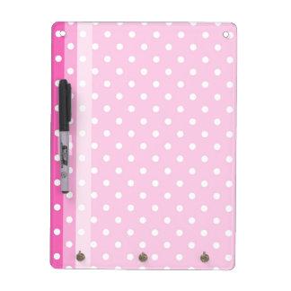 Cute, fun pink polka dots dry erase board. Dry-Erase whiteboards