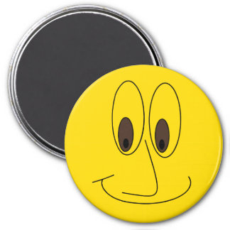 Cute Fun Smiley Cartoon Face Magnet